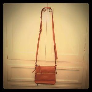 Pink Dooney & Bourke crossbody leather bag